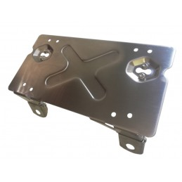 Number plate bracket for winch