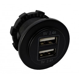 USB Charger Round  2x 2.4...