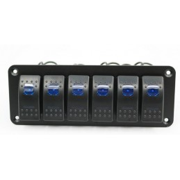 Panel with  6x Rocket Switches
