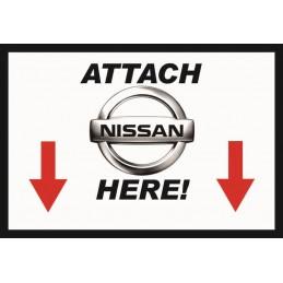 Attach Nissan Here - Sticker