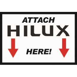 Attach Hilux Here Sticker