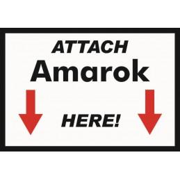 Attach Amarok Here - Sticker