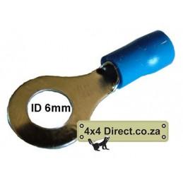 Ring terminal 6mm Blue Each