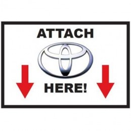 Attach Toyota Here - Sticker