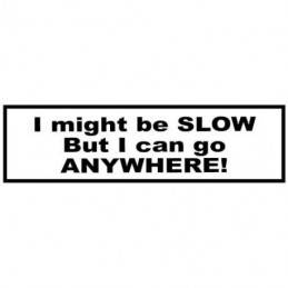 I might Be Slow - Sticker
