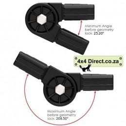 2 Way Sqr Adjustable Black...