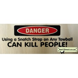 Danger using snatch strap -...